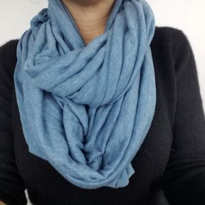 New! Calvin Klein | Infinity Scarf Blue Soft
